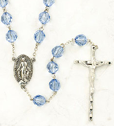 Miraculous Sapphire Family Rosary - RD1